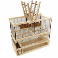 Cage wood craft for the capture bird in aviaries