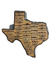 Large Antique Barbed Wire Wooden Display TEXAS 32 cuts of Authentic Barbwire