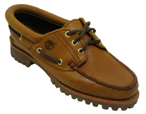 Womens Ladies Timberland Noreen Medium Brown Leather Deck Boast Shoes Size UK 4