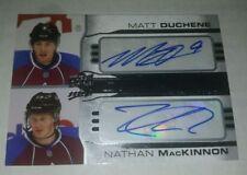 2014-15 MVP One on One Auto #1ON1DM Matt Duchene/Nathan MacKinnon (ref 16907)