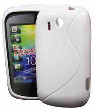 Rubber Case Wave für HTC Explorer in weiss (Pico) Silikon Skin white weiß Bag