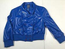 A/X ARMANI EXCHANGE Blue Faux Reptile Leather Shrug Jacket coat Women's Large