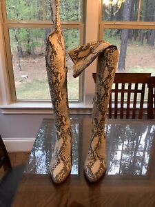 Steve Madden Womens Jacey Natural Snake Fashion Boots Size 9 (1292373)