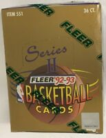 1992-93 Fleer Series 2 Hobby Basketball Box Factory Sealed 36 Pack FASC