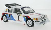 IXO 18RMC049A B or C PEUGEOT 205 T16 E2 rally cars Monte Carlo 1986 1:18th