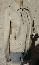 Stunning Design Barbara BUI leather jacket colour off white/beige  Size: XS 36