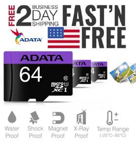 ADATA MicroSD card Adapter Fast Memory Card Lot 16GB 32GB 64GB 128Gb 256GB