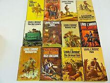 Lot 12 Vintage Louis L'Amour Old West Cowboy Paperback Books - Lot #2
