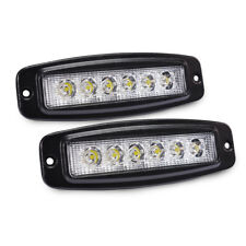 2PCS 18W Offroad LED Light Bar Pods Flood Driving Fog Lamps for Jeep SUV Pickup