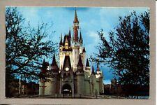 Postcard CA Walt Disney World Cinderella Castle Fantasyland Trees 1109C