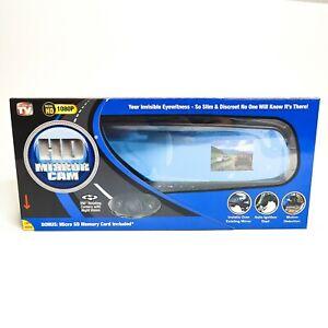 InvenTel HD Mirror Cam Dash Cam 350° Motion Detection Camera NEW in Box