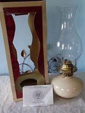 LAMPLIGHT FARMS TRADITIONAL PRINCESS ANN IVORY BUBBLED  BULB OIL LAMP