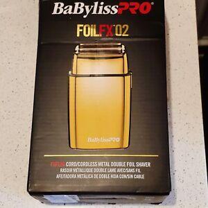 BaByliss Pro Foil FX 02 Cordless Metal Double Foil Shaver - Gold foilfx02