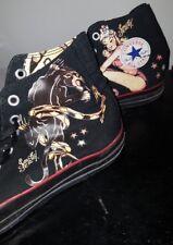 Converse All Stars Sailor Jerry Tatuaggio Scarpe da ginnastica Black Death O Glory RARO 11 UK
