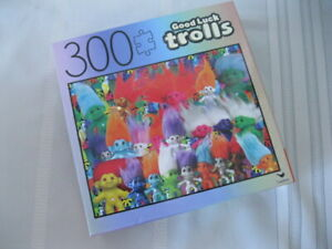 "New Cardinal Good Luck Trolls 300 Pc Jigsaw Puzzle 18"" x 24"" Sealed"