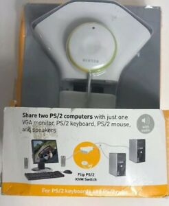 New BELKIN Flip PS2 with Audio KVM Switch F1DG102P 2 ports Box Is Torn Never Use