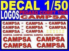 DECAL 1/50 LOGOS PEGASO COMET 1065 1970 CAMPSA  (02)