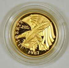 1987-W $5 US Mint Half Eagle US Constitution Commemorative Gold Coin