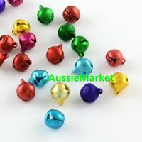 50 x jingle bells aluminium beads 8mm christmas decoration mixed colours charms