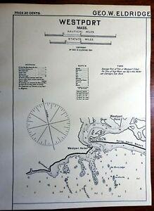 Westport Massachusetts 1901 Eldridge detailed coastal nautical survey map