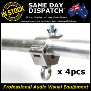 4 x Aluminium Half Coupler Steel Eyelet Lighting Truss Light Stage Clamp 200KG