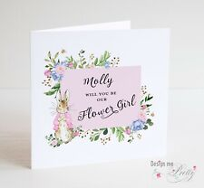 Peter Rabbit Flower Girl Card - Will you be our Flower Girl