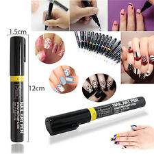 16 Colours Gel Polish Nail Art Pen Painting Design Tool Drawing Easy Made DIY UK
