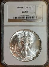 1986 Silver American Eagle NGC MS69 FREE SHIPPING