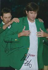 Bubba WATSON & Charl SCHWARTZEL SIGNED Autograph 12x8 Photo AFTAL COA GOLF