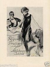 Riquet & Schönberger XL Reklame 1924 Schokolade Sekt Judaika Dame Kleid Herr