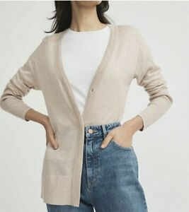 NWT WITCHERY CARDIGAN [10 12 14 S M L] Womens, BEIGE soft button up jumper RR$99