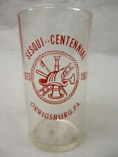 Vintage Fire Department Glass 1963 Sesqui-Centennial Orwigsburg Pennsylvania