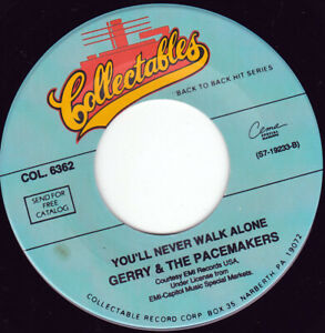 """GERRY & THE PACEMAKERS - You'll Never Walk Alone  7"""" 45"""