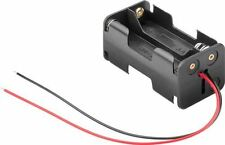 Goobay 4x AA (Mignon) battery holder black Loose cable ends (11472)
