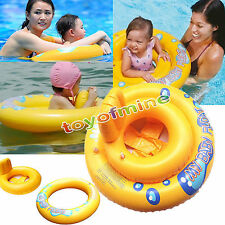 INFLATABLE BABY CARE SEAT SWIM SUPPORT RING POOL AID Swimming Float Trainer