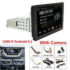 "8"" Touch Screen 1DIN Android 8.1 Quad-core 1GB+16GB Car Stereo Radio GPS+Camera"