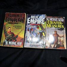 W. Michael Gear Forbidden Borders Trilogy Sci-Fi Conqueror Empire Counter
