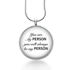 You are my PERSON you will always be my Person necklace-couples jewelry,poetry