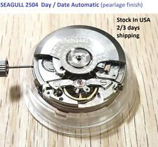 New !  Sea -Gull 2504 Movement Automatic Day Date  fit Parnis watch P 731