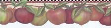 Colorful Ripening Apples Die-Cut Wallpaper Border  LB0219DB Leslie Beck