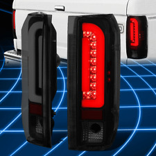 For 90-97 Ford F150 F250 Bronco 3D LED Bar Tail Brake Light Replacement Tinted