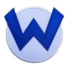 Wario W Patch Iron on Badge Costume Super Mario World Patches Cosplay Kart  SNES