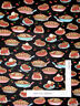 Kitchen Cherry Pie Bake Food Black Cotton Fabric QT Home Sweet Home By The Yard