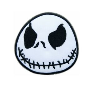 Jack Skeleton Nightmare Before Christmas Iron On Patch Sew on Embroidered New