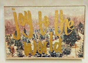 "Kirkland's Joy To The World Christmas Picture Winter Scene 15.5 x 10"" x 2.5"""