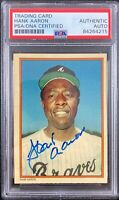 Hank Aaron auto signed card Topps #1 1985 Atlanta Braves PSA Encapsulated