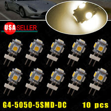 10X 3500K Warm White G4 5 SMD Marine Home Marine  Car Auto LED Light Bulb 12V DC