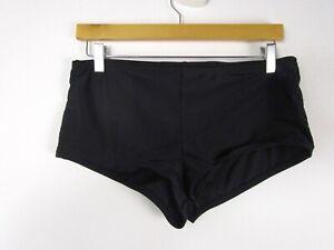 Catalina Woman Black Boy Short Swim Bottoms Size M 8-10