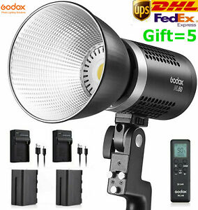 Godox ML60 60W Handheld LED Video Light CRI96+ TLCI 97+ with 2*NP-F970 Battery
