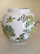 Antique Masons Mason's MANCHU Green Ironstone Rose Bowl Vase England